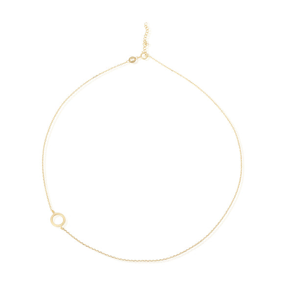 N-7006 Open Circle Charm Necklace