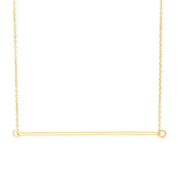 N-7010 Horizontal Bar Charm and Necklace Set | Teeda