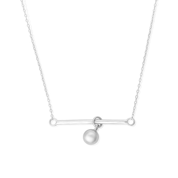 N-7012 Bar and Ball Charm and Necklace Set | Teeda