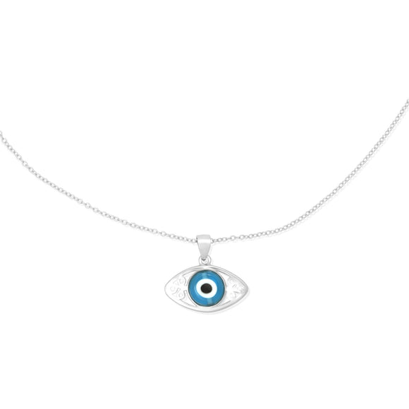 N-7015 Evil Eye Pendant and Necklace Set