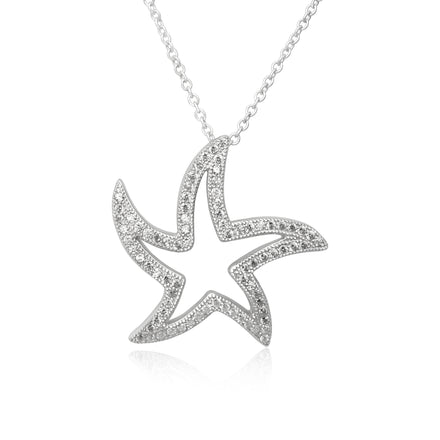 NZ-3005 Flowing Starfish Pendant and Necklace Set | Teeda