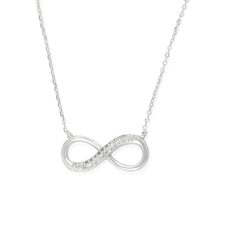 NZ-7002 Infinity Symbol Cubic Zirconia Necklace | Teeda