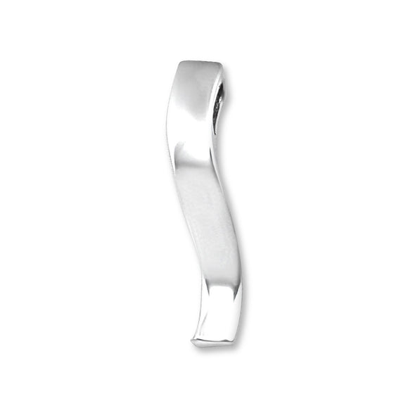 P-1200 Curved Square Bar Charm | Teeda