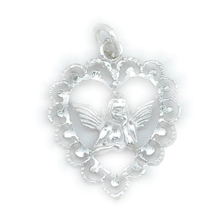 P-2100 Angel Floating Heart Charm | Teeda