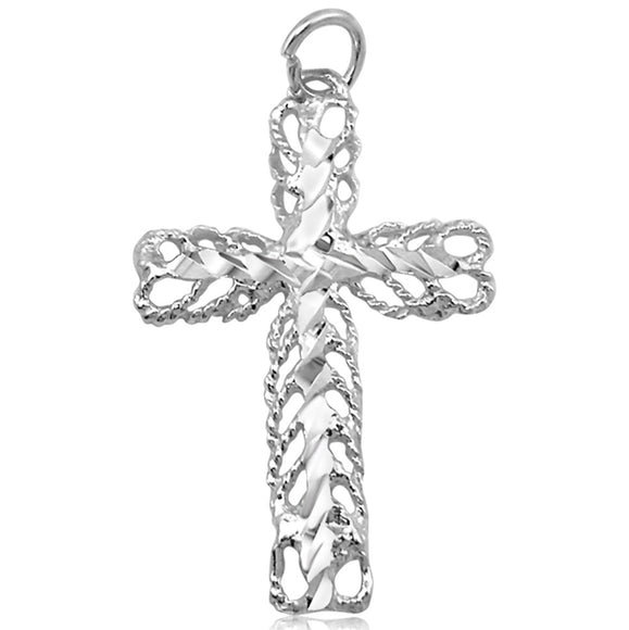 P-2350 Filigree Cross Charm | Teeda