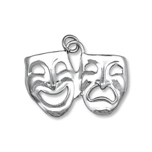 P-4830 Comedy Tragedy Masks Lg Charm | Teeda