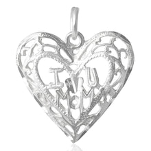P-4850 I Love You Mom Heart Charm | Teeda