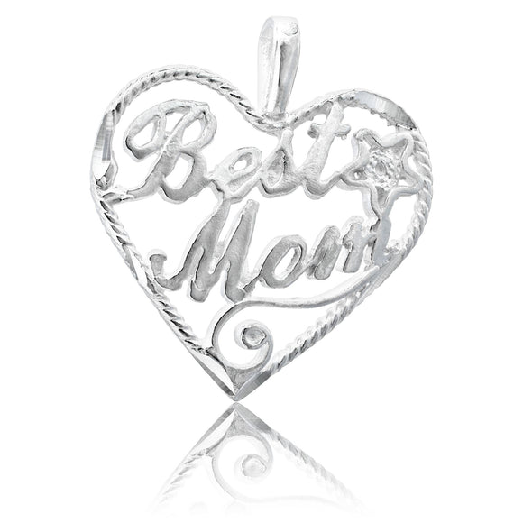 P-4880 Best Mom Heart Charm