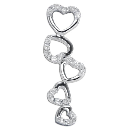 PZ-7004 Heart Journey CZ Pendant | Teeda