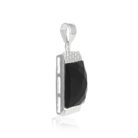 PZ-7017 Briolette Faceted Rectangle CZ Pendant | Teeda
