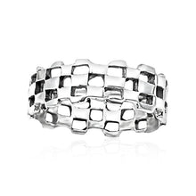 R-1040 Checkered Silver Band | Teeda
