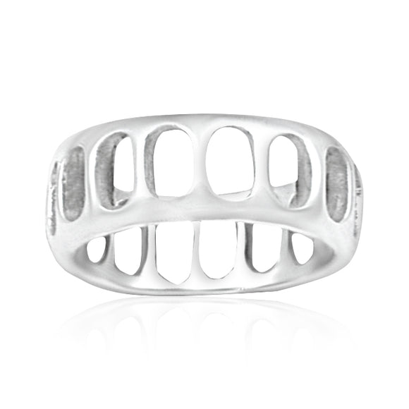 R-2000 Slotted Silver Band