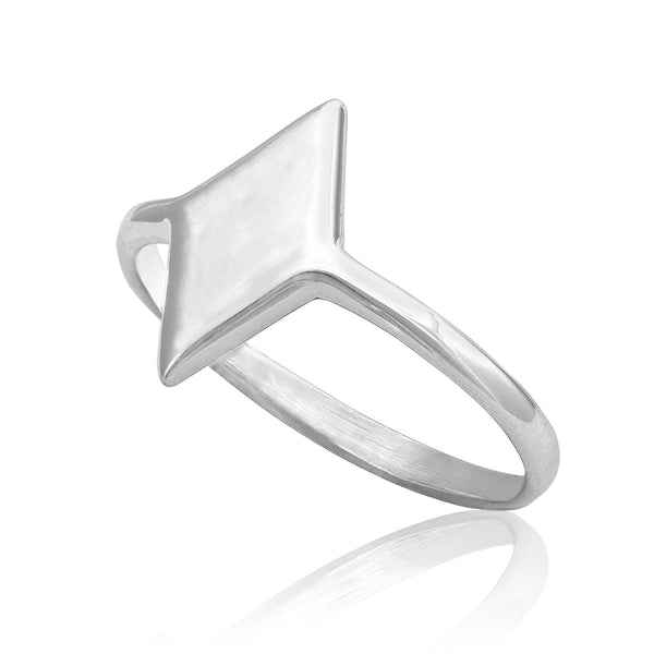R-2031 Diamond Shape Dainty Signet Ring