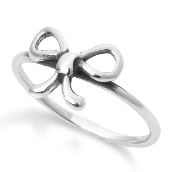 R-2034 Bow Silver Ring