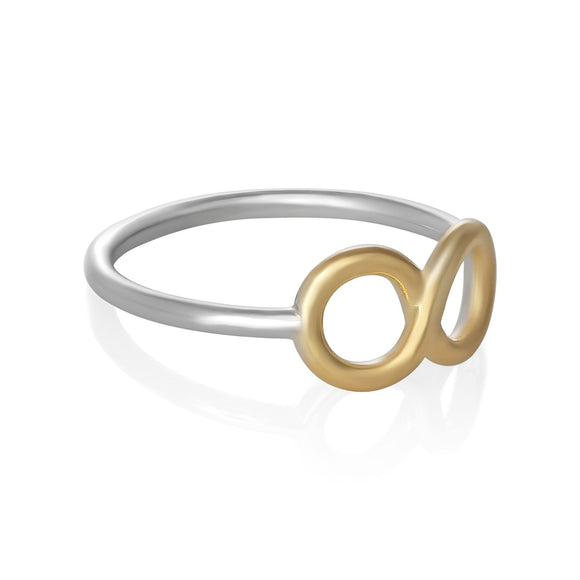 R-5003 Silver and Gold Infinity Symbol Ring
