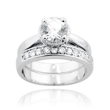 RSZ-1010 Cubic Zirconia Engagement Wedding Ring Set | Teeda