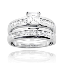 RSZ-1030 Cubic Zirconia Engagement Wedding Ring Set | Teeda