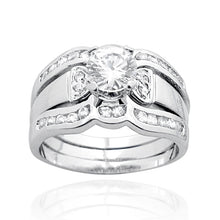 RSZ-1060 Cubic Zirconia Engagement Wedding Ring Set | Teeda