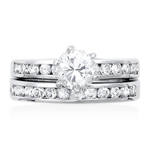 RSZ-1080 Cubic Zirconia Engagement Wedding Ring Set | Teeda