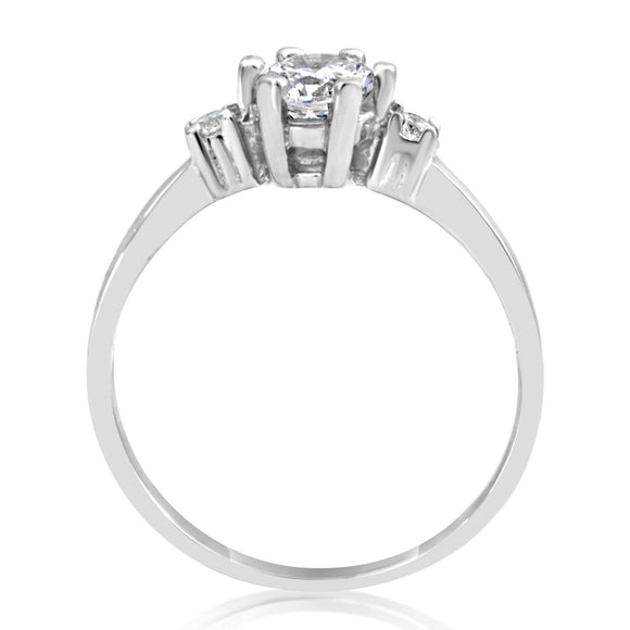 RSZ-2143 Cubic Zirconia Engagement Wedding Ring Set