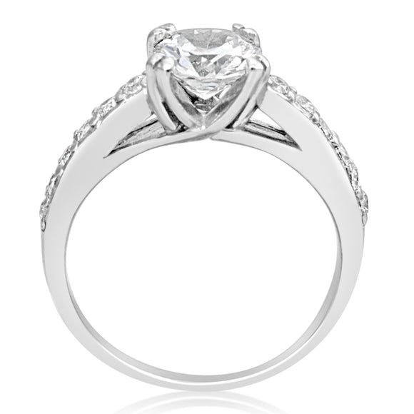 RSZ-2144 Cubic Zirconia Engagement Wedding Ring Set