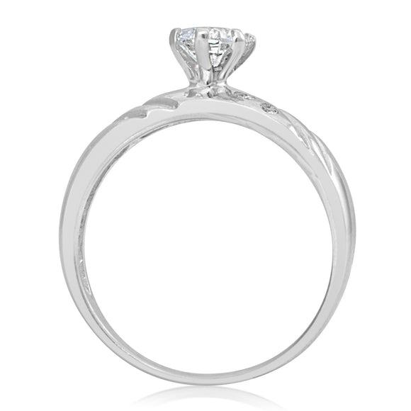 RSZ-2148 Cubic Zirconia Engagement Wedding Ring Set