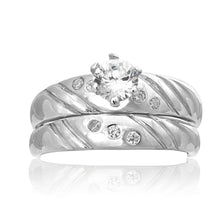 RSZ-2148 Cubic Zirconia Engagement Wedding Ring Set | Teeda