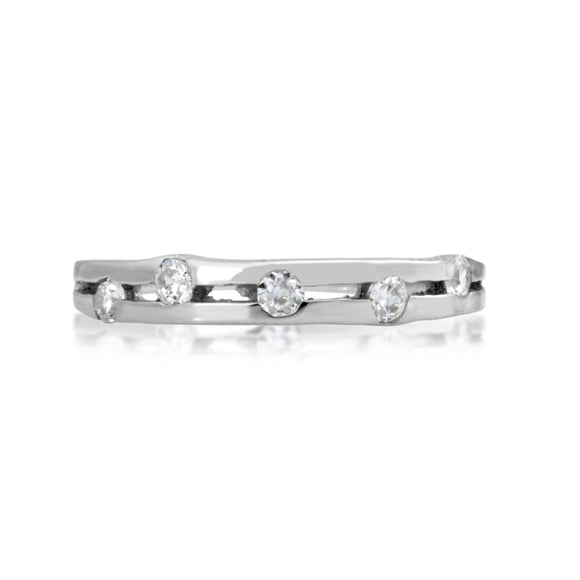 RSZ-2155 Constellation CZ Engagement Wedding Ring Set