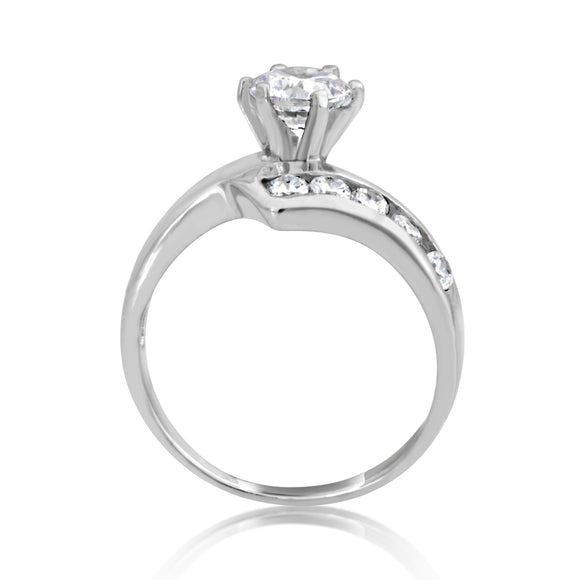 RSZ-2156 Z Wave Channel Set CZ Engagement Wedding Ring Set