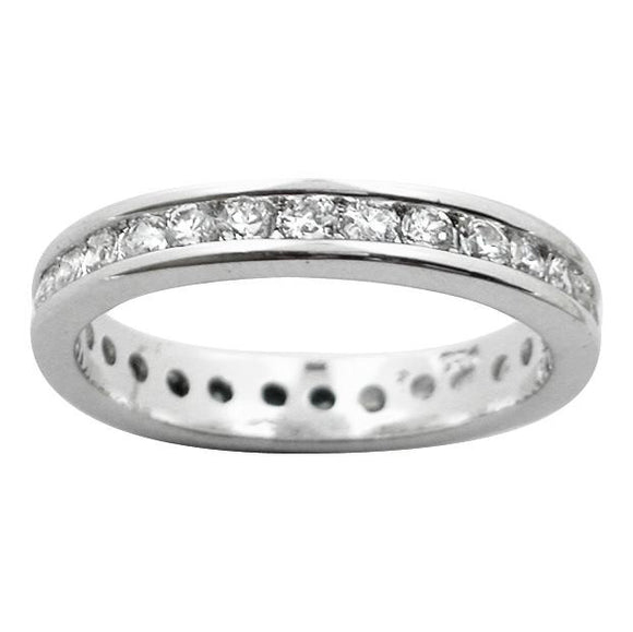 RZ-1210 Cubic Zirconia Eternity Ring | Teeda