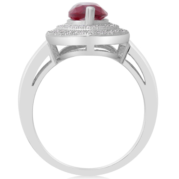 RZ-1644 Marquise Cut Micropavé Cubic Zirconia Ring