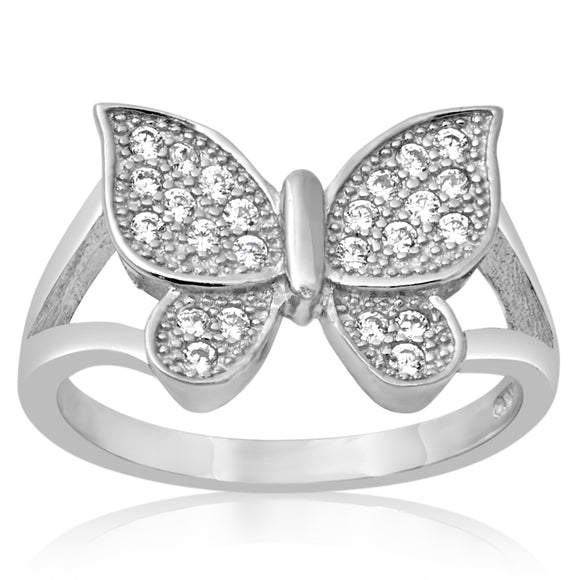 RZ-1649 Pavé Butterfly Ring
