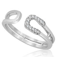 RZ-1662 Double Horseshoe CZ Ring | Teeda