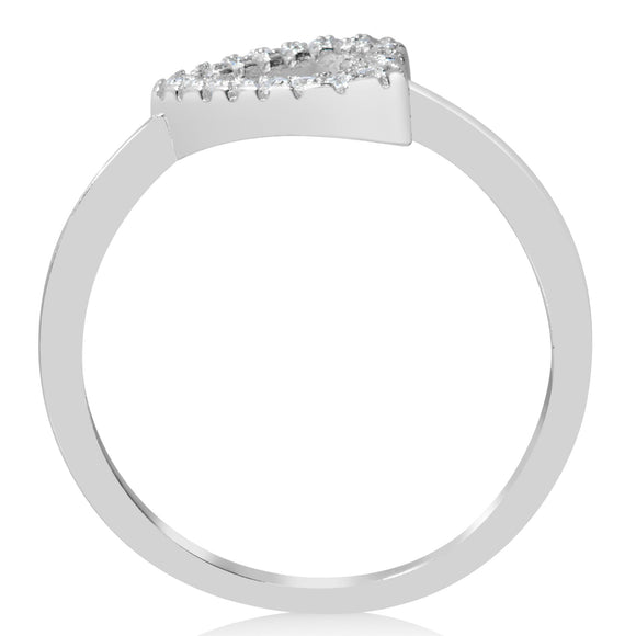 RZ-1665 Sideways Open Heart CZ Ring