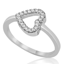 RZ-1665 Sideways Open Heart CZ Ring | Teeda