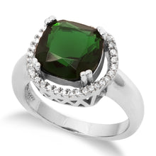 RZ-1669 Cushion Cut Halo CZ Ring - Emerald | Teeda