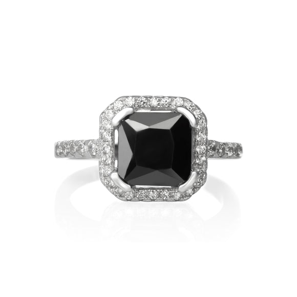 RZ-1675 Cubic Zirconia Ring - Black | Teeda