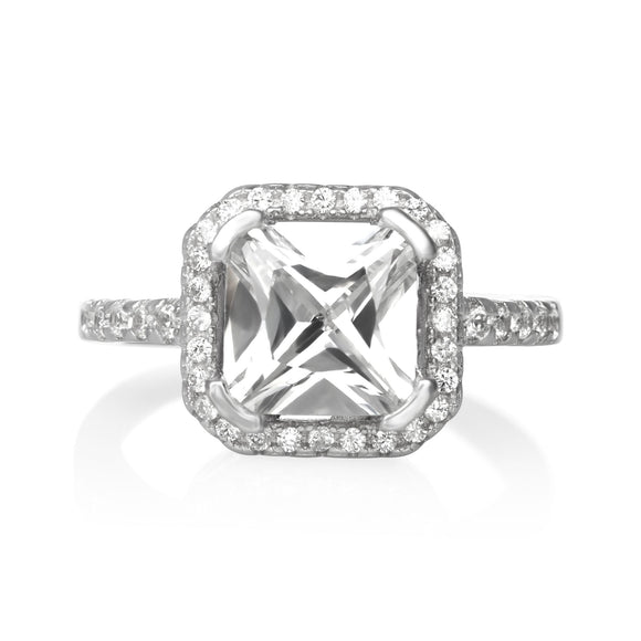 RZ-1675 Cubic Zirconia Ring - Clear | Teeda