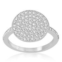 RZ-1678 Disc Micropavé CZ Ring | Teeda