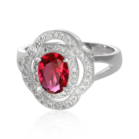RZ-1688 Oval CZ Double Halo Ring