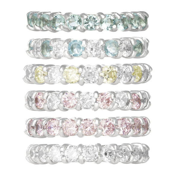 RZ-2025 Prong Set CZ Eternity Band
