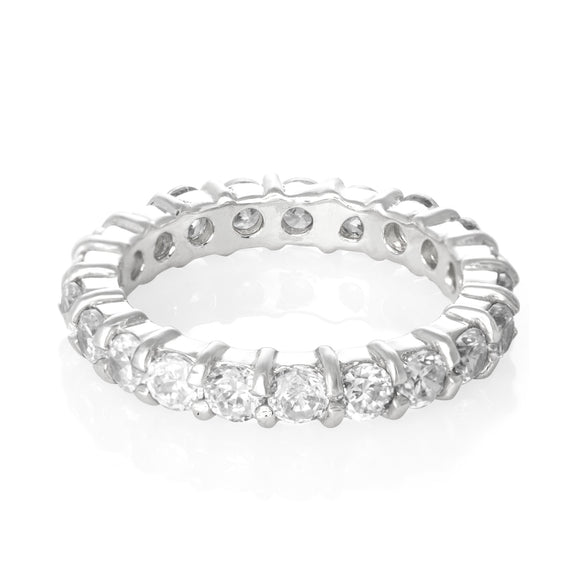 RZ-2025 Prong Set CZ Eternity Band | Teeda