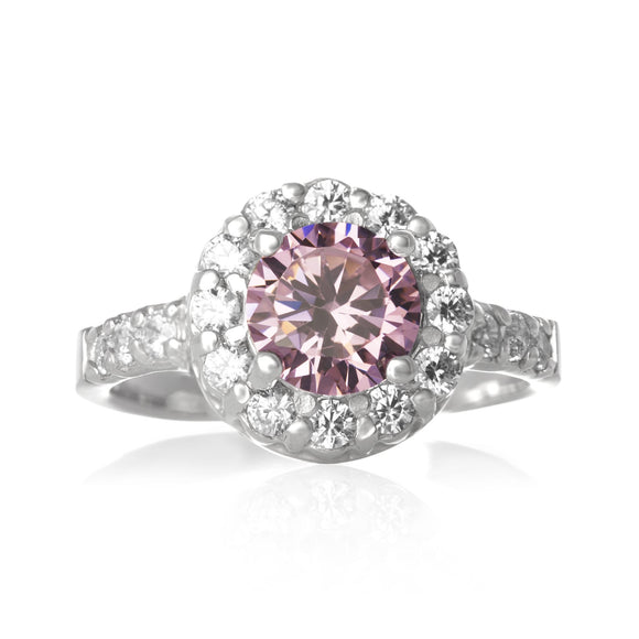 RZ-2360-P CZ Topiary Crown Ring - Pink | Teeda