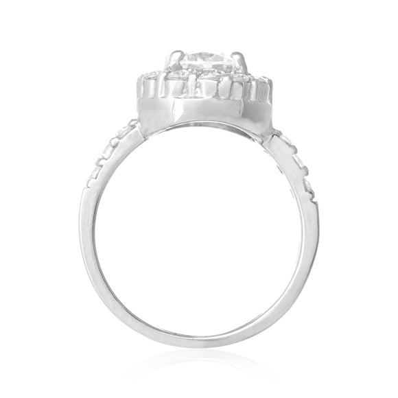 RZ-2360 CZ Topiary Crown Ring