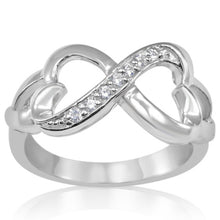 RZ-3180 Amadora Connect the Hearts CZ Ring | Teeda