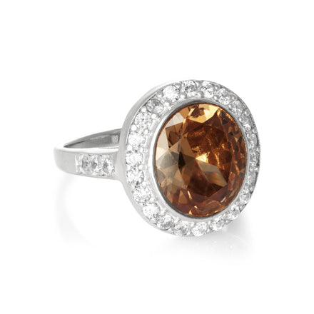 RZ-3430 Callista Oval Cut CZ Ring | Teeda