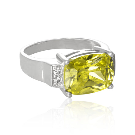 RZ-3480 Emerald Cut CZ Ring | Teeda