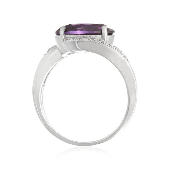 RZ-3490 Oval Cut CZ Ring