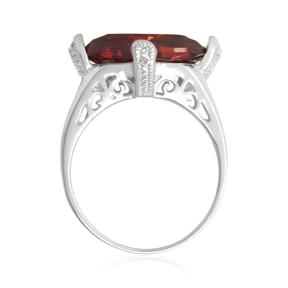RZ-3580 Oval Cut CZ Ring