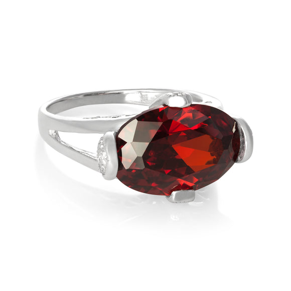 RZ-3580 Oval Cut CZ Ring | Teeda